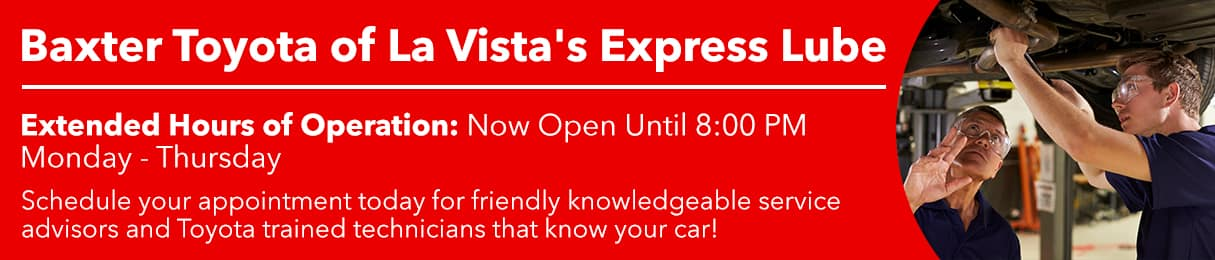 Express Lube Hours At Toyota La Vista