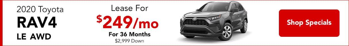 2020 RAV4 - Lease For $249/mo
