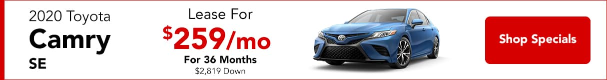 2020 Toyota Camry - Lease for $269/mo