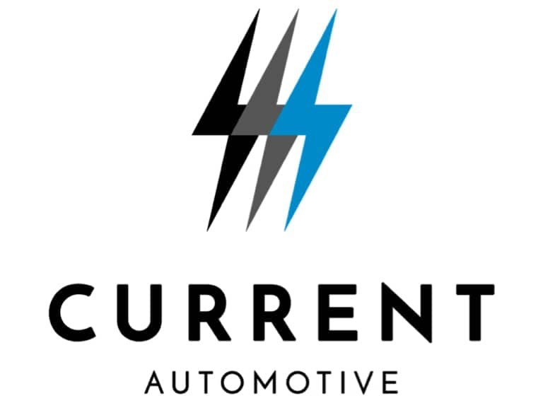 current automotive logo white background