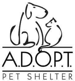 ADOPT pet shelter logo