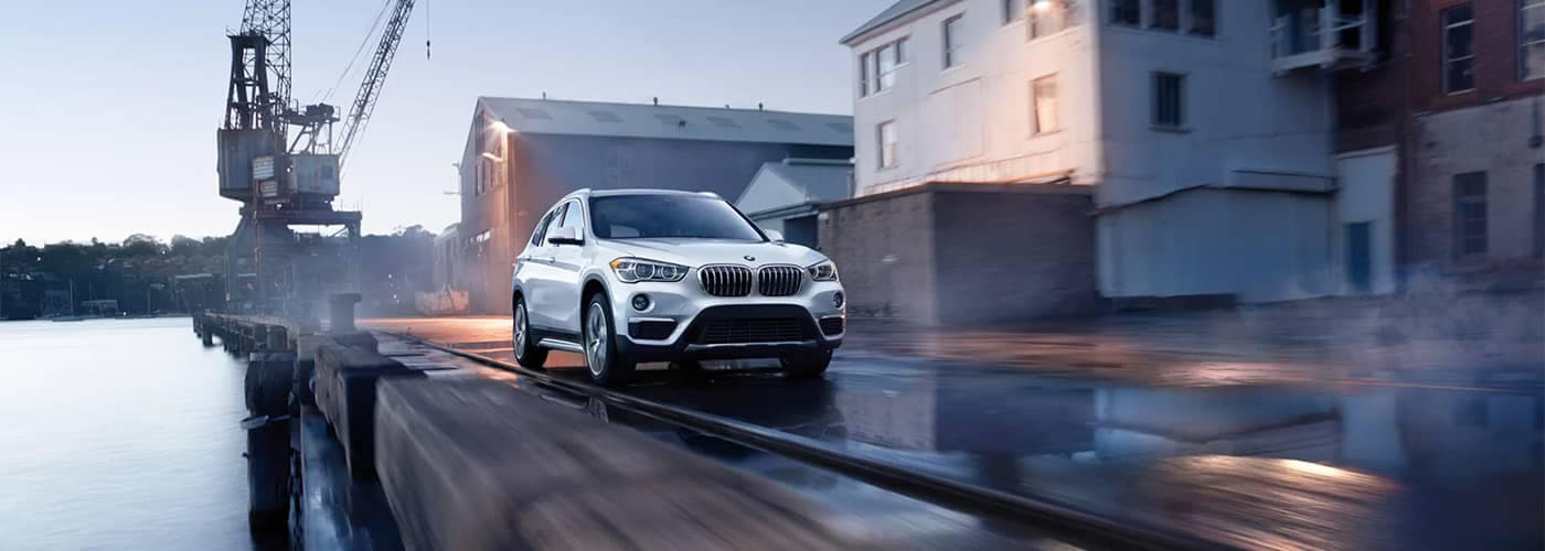 BMW X1 Driving on Wet Pavement