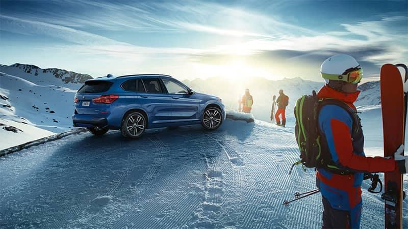 BMW X1 Parked on Snow Mountain