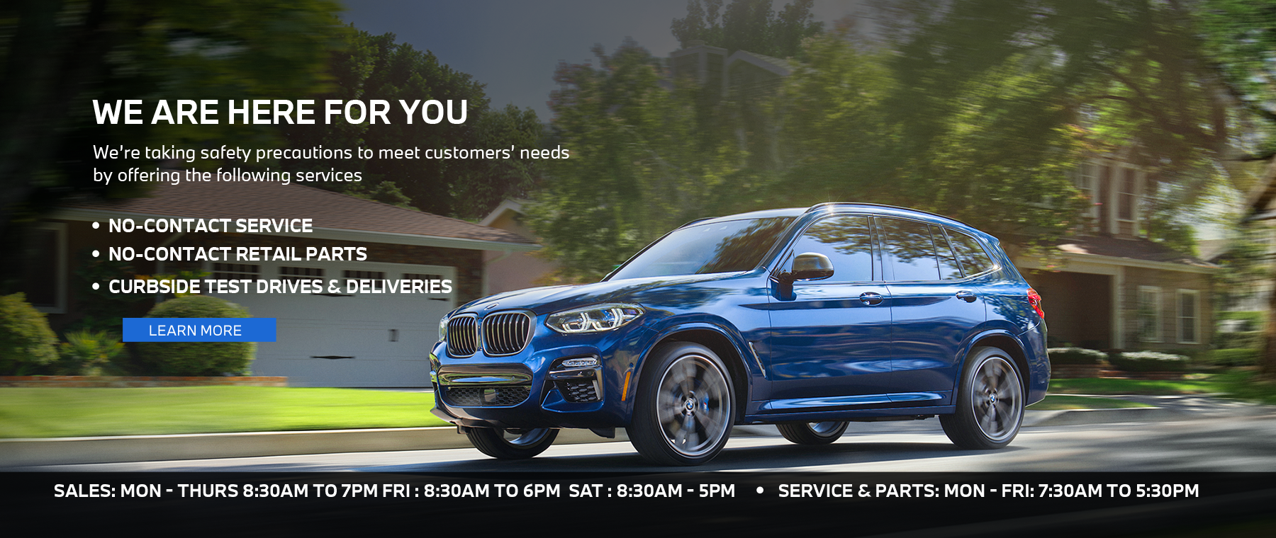 BMW July Hours Homepage Hero 1800 x 760