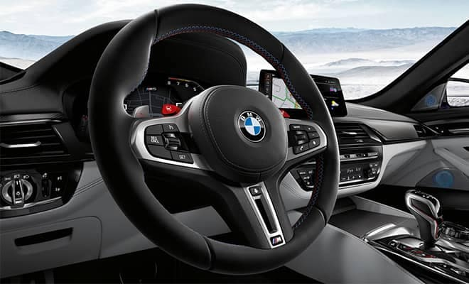BMW M5 Interior Steering Wheel and Dashboard Features