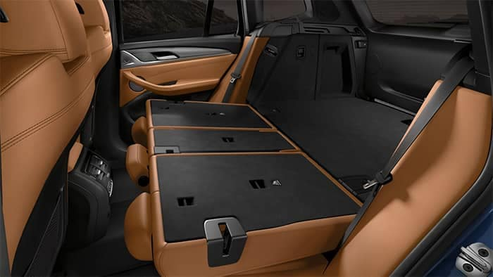 2020 BMW X3 Interior View of Rear Seats Folded Down