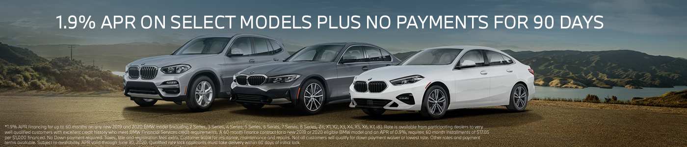 1.9% APR Financing and NO PAYMENT FOR 90 DAYS Banner
