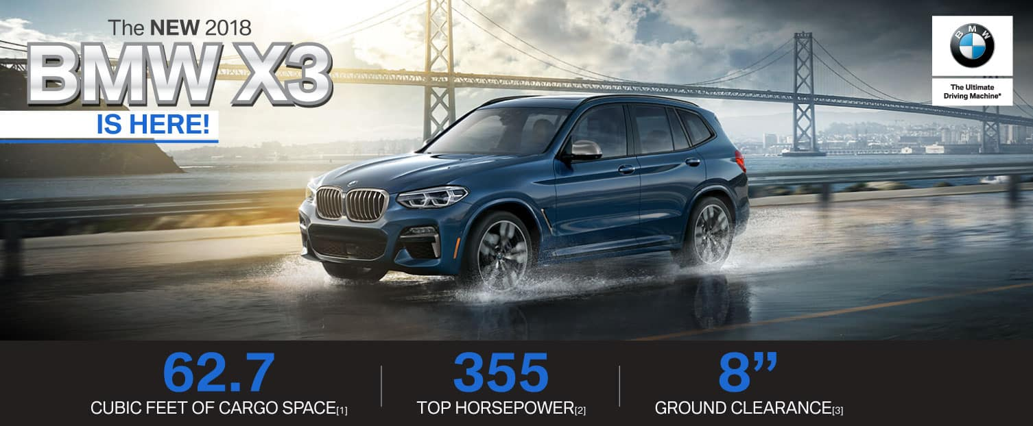 Header Photo of the new 2018 BMW X3