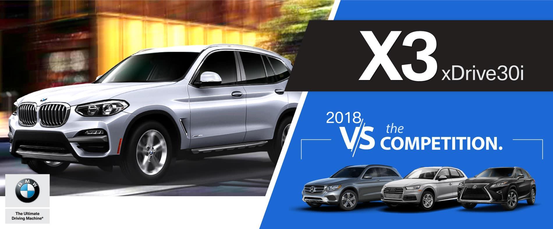 2018 Bmw X3 Model Comparisons Bmw Of San Francisco