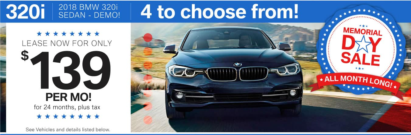 Memorial Day Sales Event all month long at BMWSF!