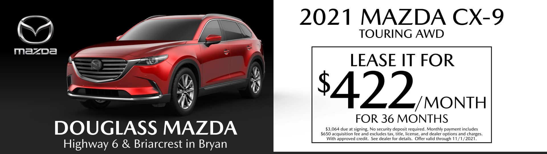 College Station Mazda Lease Special