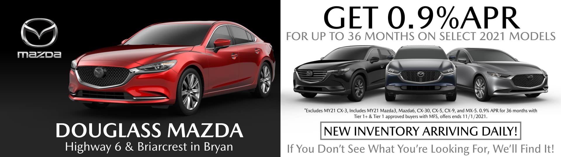 Mazda Special APR On Select Models