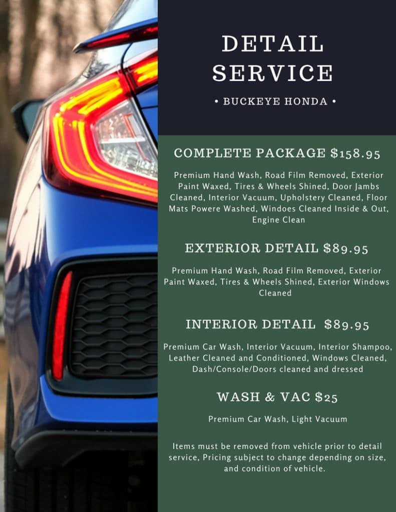 Buckeye Honda Detail Service