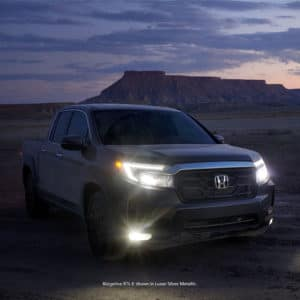 Front view of the 2021 Ridgeline in Gray