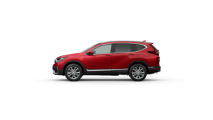 Exterior Side View of the 2021 Honda CR-V in Radiant Red Metallic