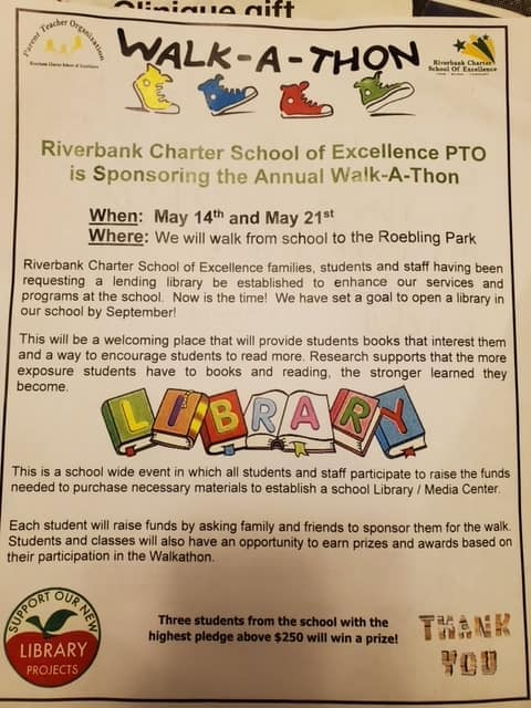 Riverbank Charter School Team Walk-a-thon