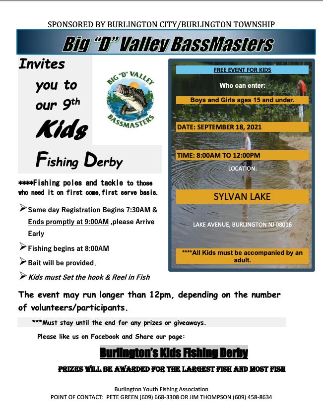 kids fishing derby poster