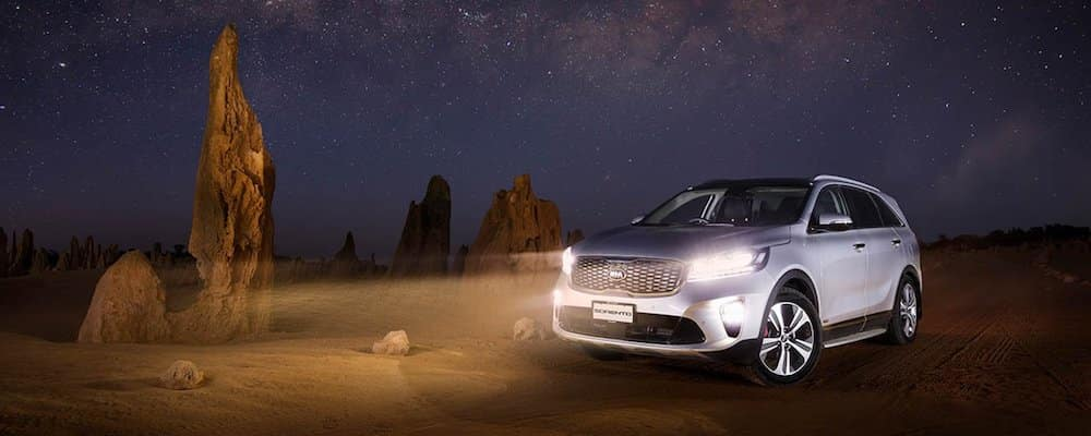 Kia Sorento in the desert