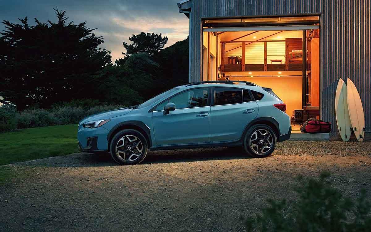 2018 Subaru Crosstrek evening lights