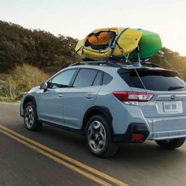 2018 Subaru Crosstrek from rear with roof cargo