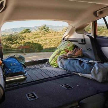 2018 Subaru Crosstrek rear seats down for cargo