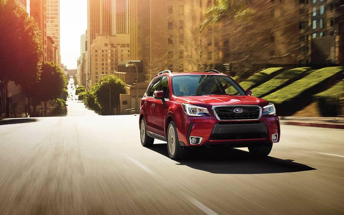 2018 Subaru Forester driving in the city