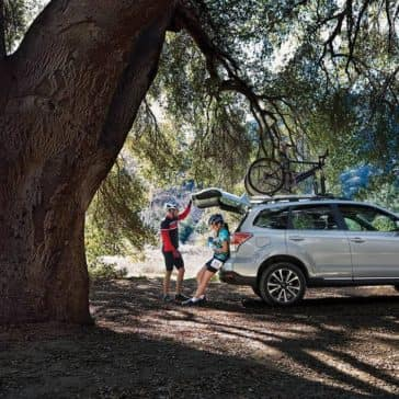 2018 Subaru Forester using rear tailgate