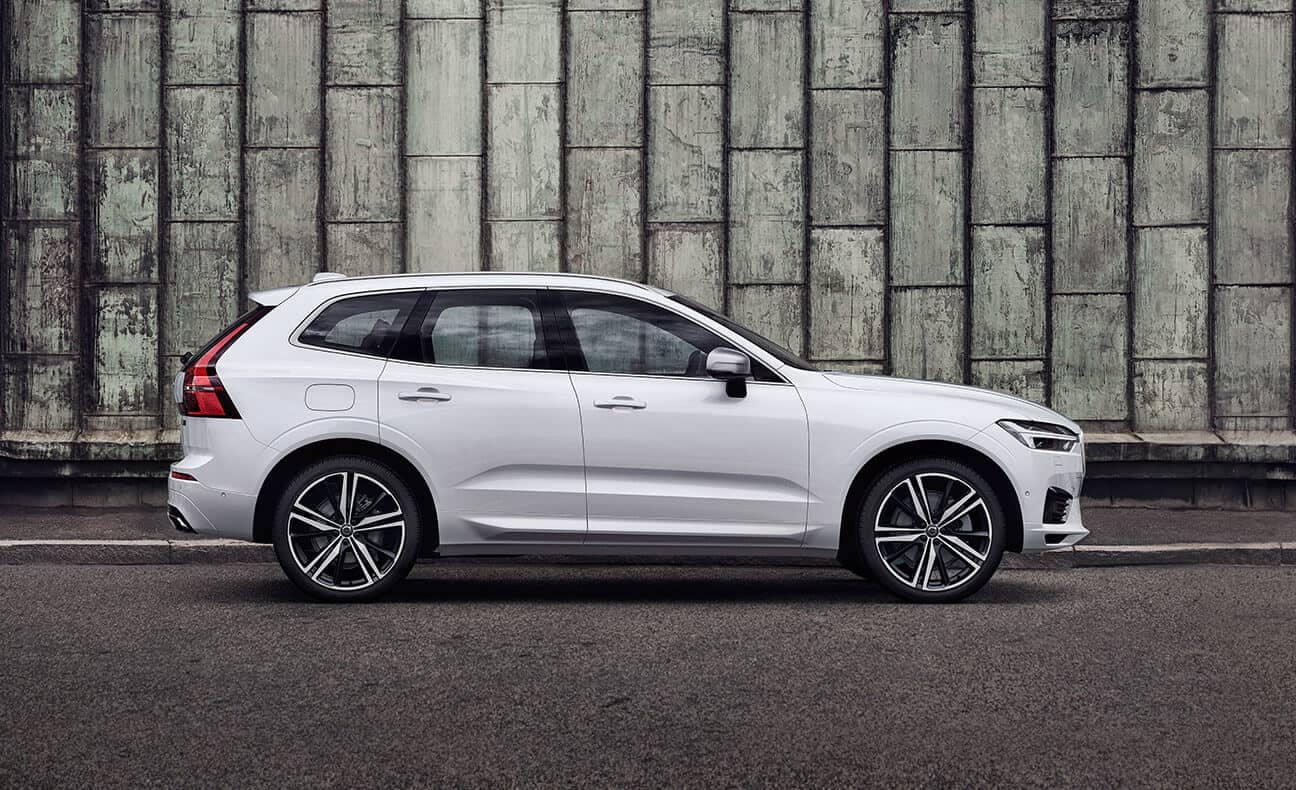 2018 Volvo XC60 by a brick wall