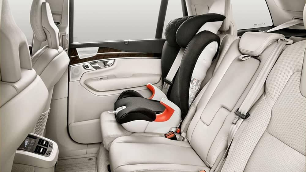 Volvo XC90 interior car seat LATCH system