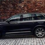 Black Volvo XC90 on a Brick Street