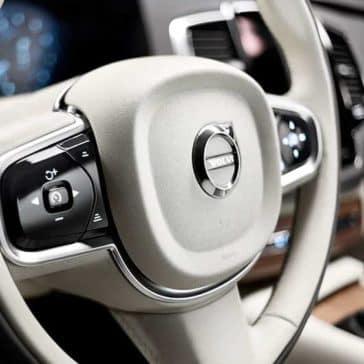steering wheel in 2019 Volvo XC90