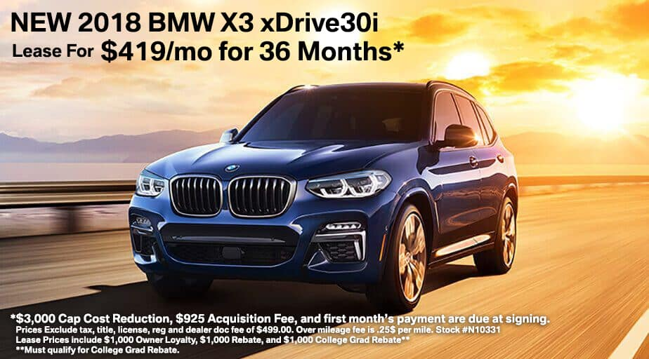 BMW X3 Lease Offer