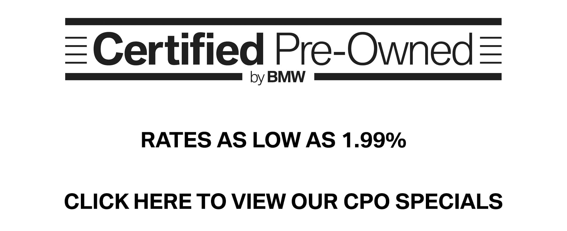 Certified Pre Owned BMW