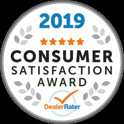 2019 Dealer Rater Consumer Satisfaction Award