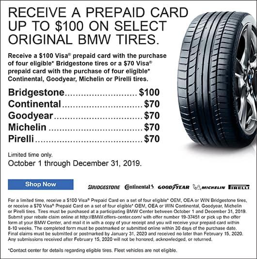 BMW Tire Campaign at Circle BMW in Eatontown NJ BMW Approved Tires General Goodyear Michelin Hankook
