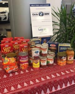 Fulfill Food Drive at Circle BMW store near me Eatontown NJ
