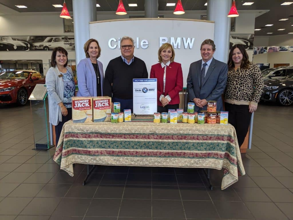 November 2019 FulFill Food Drive at Circle BMW Featuring Owner, Tom Defelice and Kim Guadagno President & CEO of Fulfill