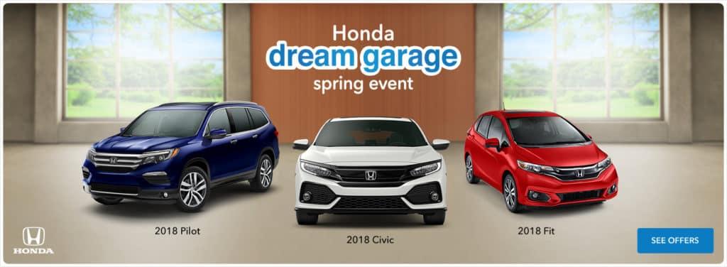Honda Dream Garage Spring Sales Event 2018