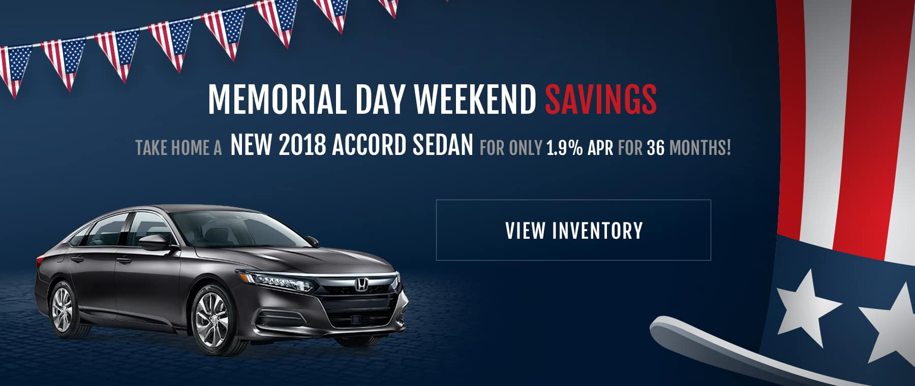 Classic Honda of Midland Memorial Day Offer Accord