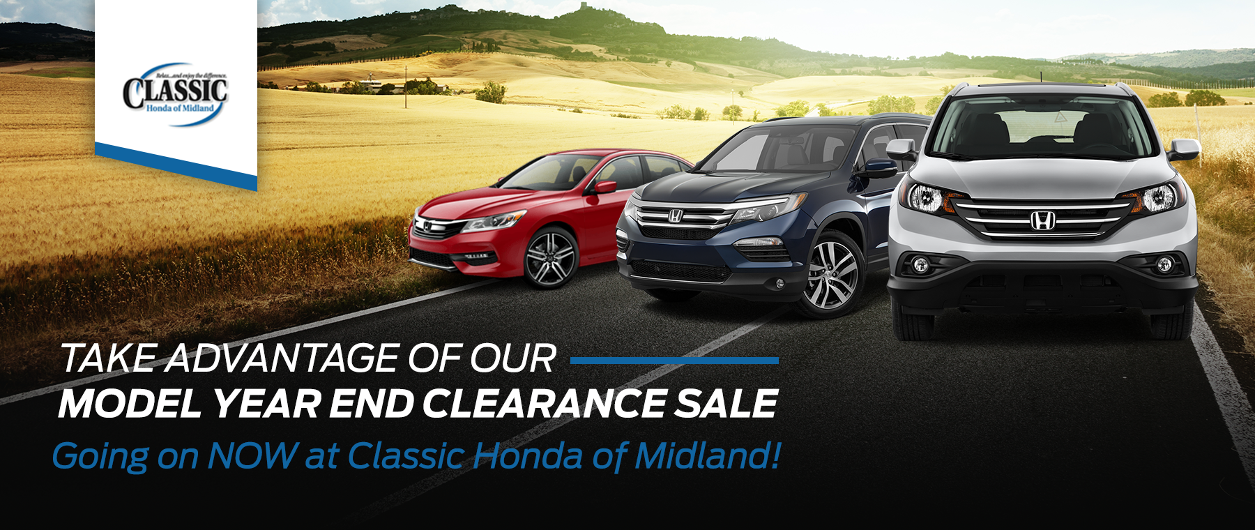 2017 Model Year End Clearance Sale Event at Classic Honda of Midland, TX