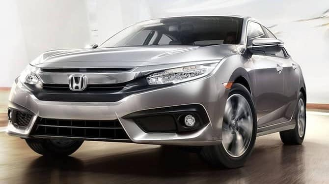 2018 Honda Civic Silver Front View
