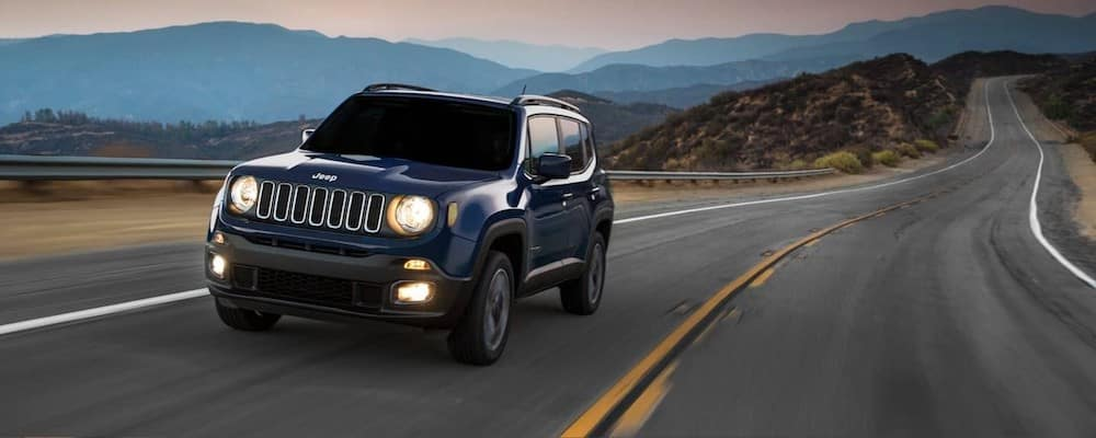 jeep on open road