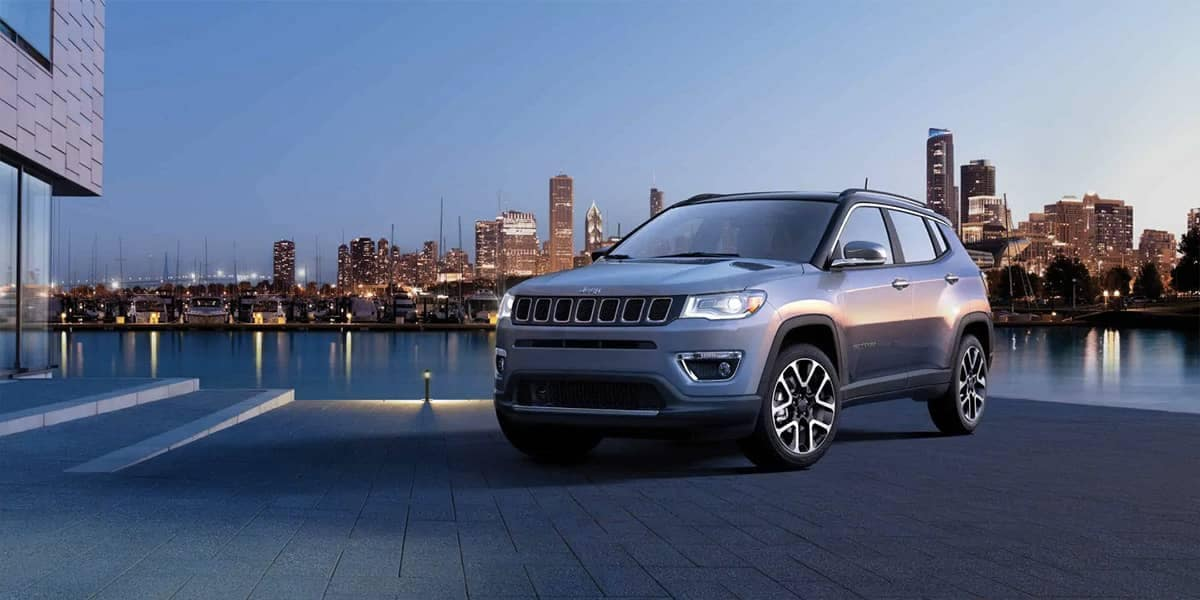 2019 Jeep Compass parked at night