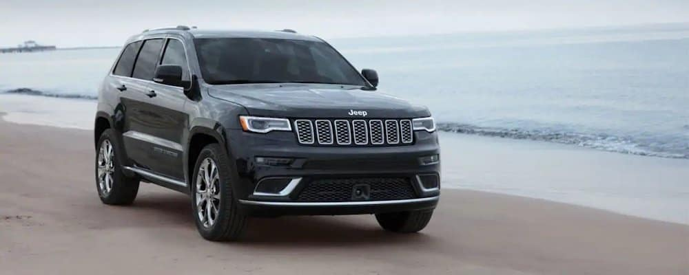 2019 Jeep Grand Cherokee on beach