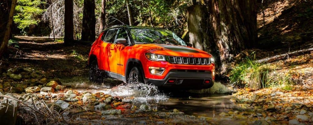 2019 compass trailhawk in woods