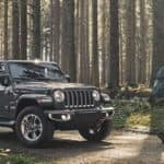 2020 Jeep Wrangler in the woods header