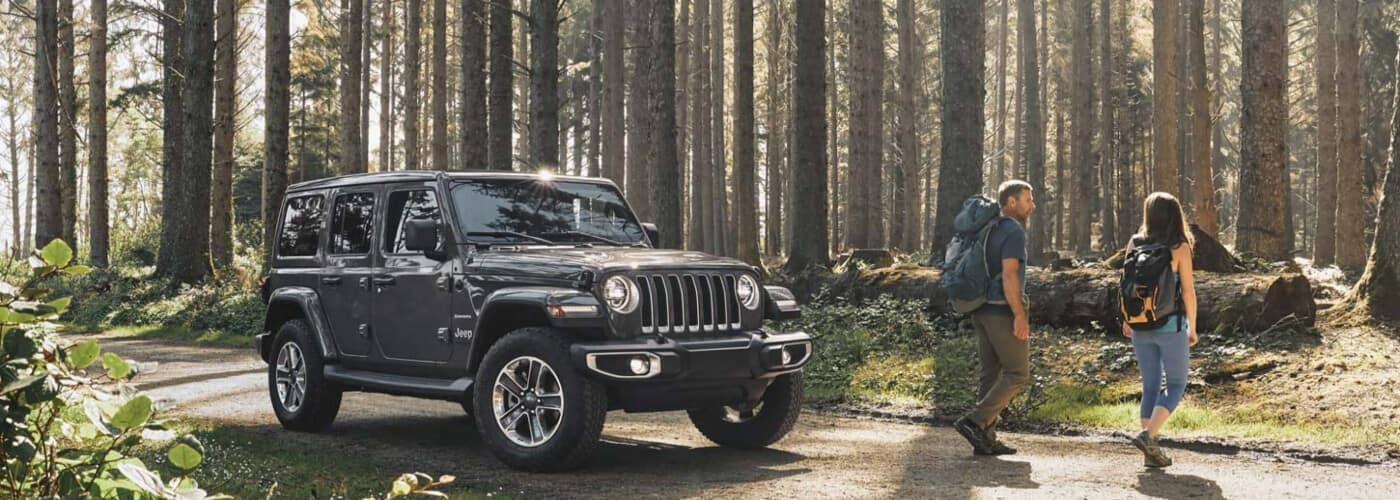 Jeep Wrangler in the Forest