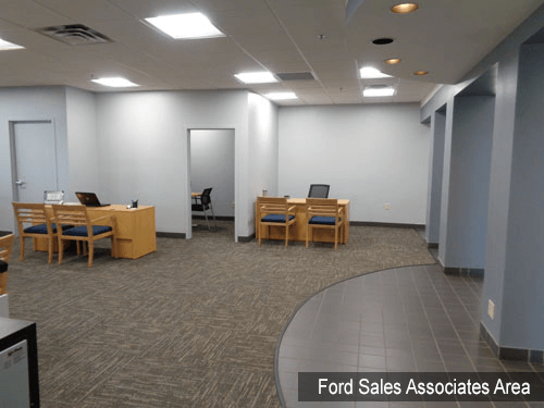 Ford Interior Sales Associate area