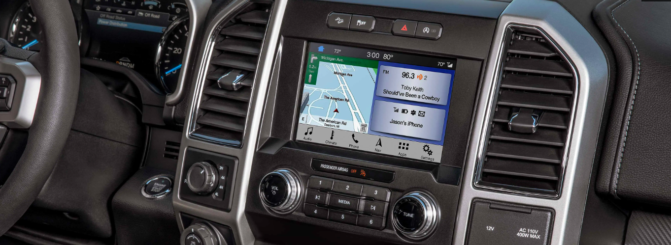 Instrument cluster on a new 2020 Ford F-150 with Ford SYNC technology