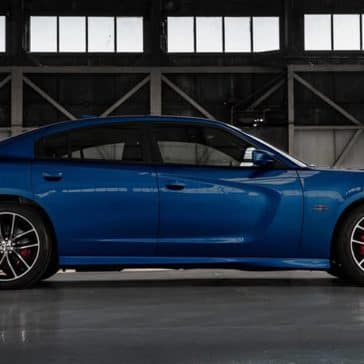2018 Dodge Charger Blue Facing Right